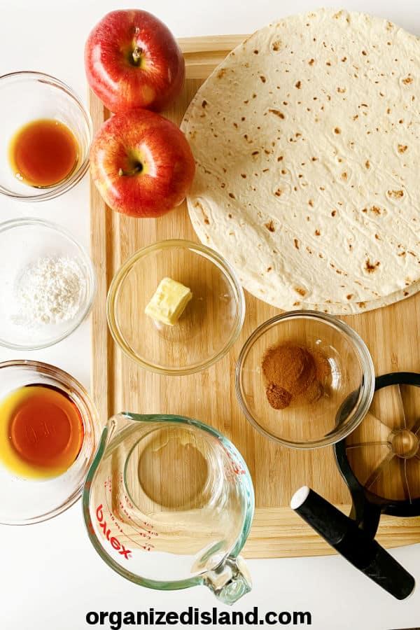 Caramel Apple Wraps Ingredients