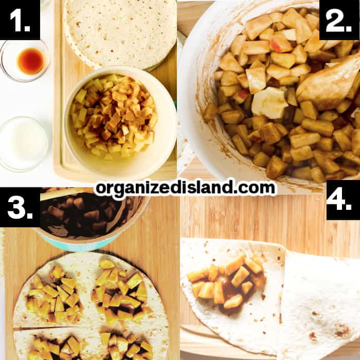 How to make Caramel Apple Wraps