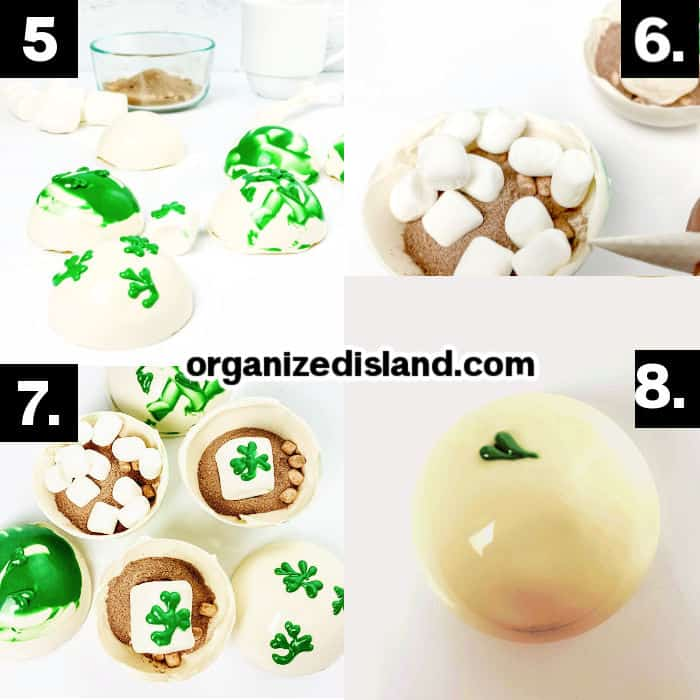 How to make Shamrock Cocoa Bombs