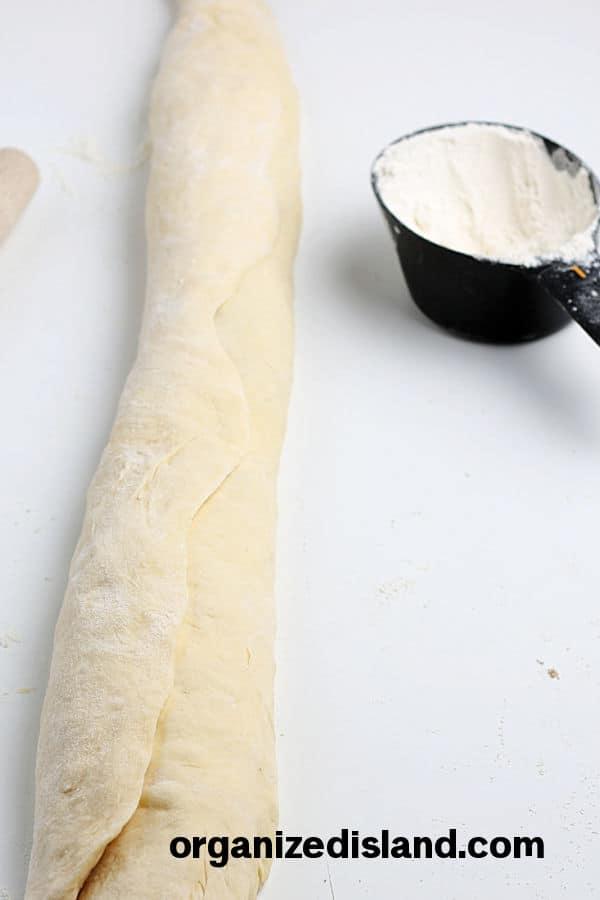 King Cake Recipe Roll dough