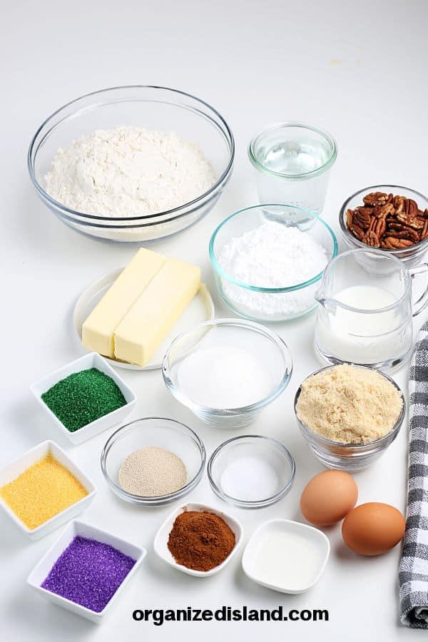 King Cake Recipe ingredients