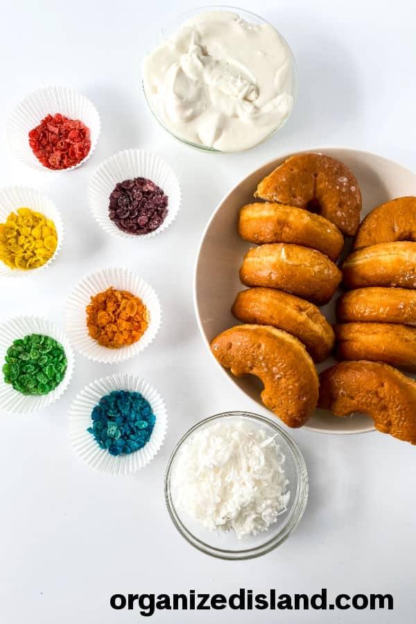 Rainbow donuts ingredients
