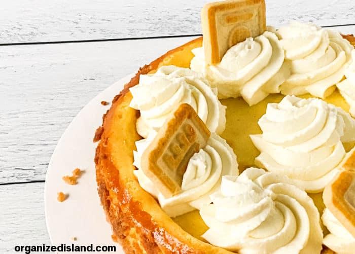 Banana Pudding cheesecake Landscape