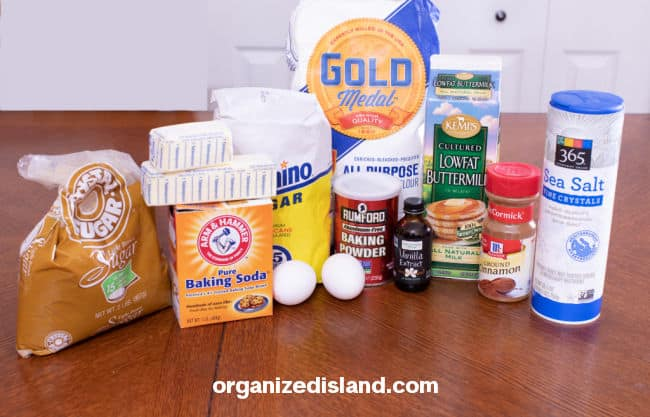 Cinnamon and Sugar Scones ingredients