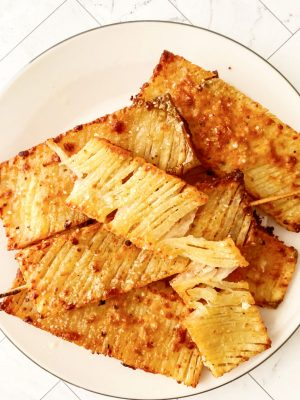 Garlic Parmesan Potato Skewers
