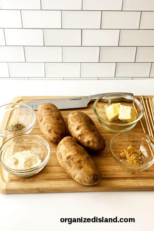 Garlic Parmesan Potato Stack Ingredients