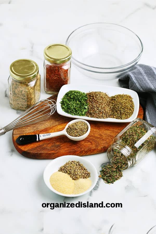 Homemade Taco Seasoning ingredients