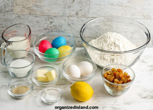 Italian Easter Bread Ingredients
