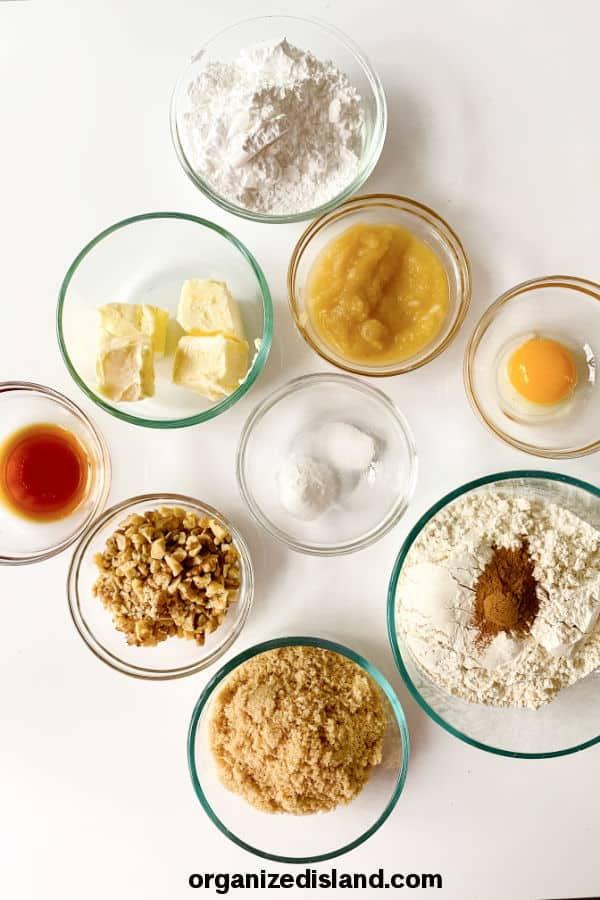 Brown Butter Cookies Ingredients