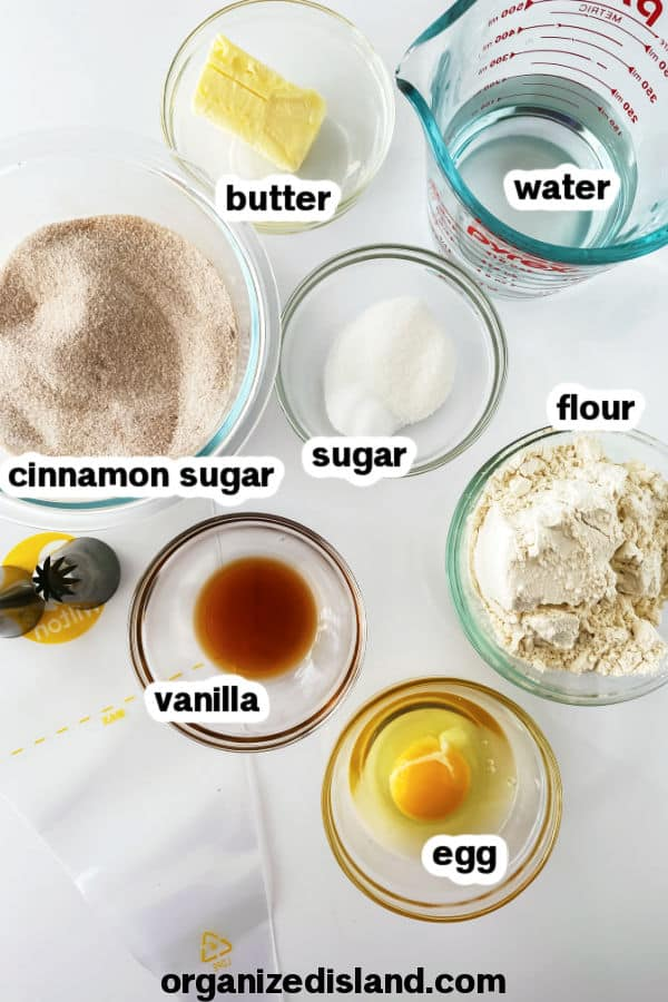 Homemade Churros Ingredients