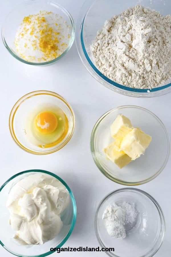 Sour Cream Lemon Cookies Ingredients