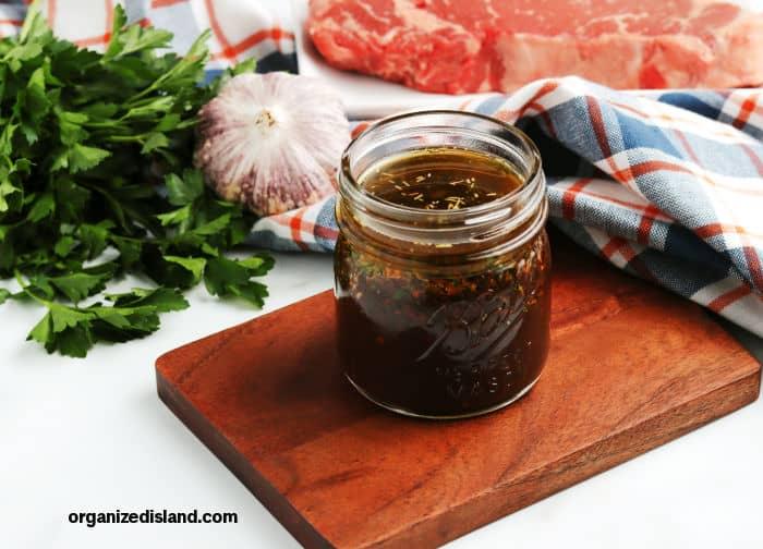 Steak-Marinade from scratch in a jar