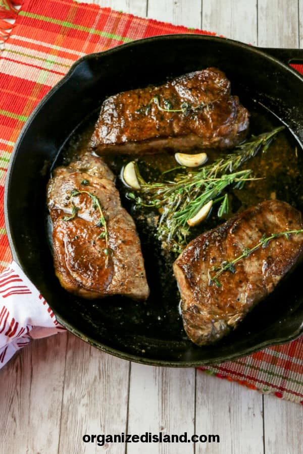 Cast Iron Skillet Steak with Butter