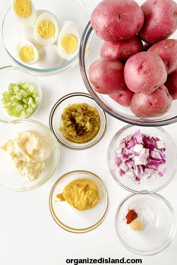 Easy Potato Salad Ingredients No Vinegar