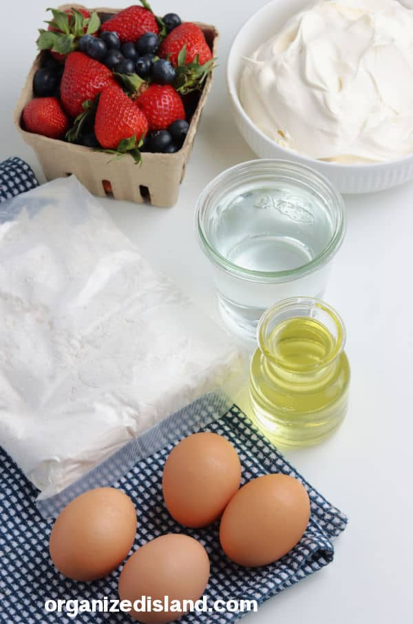 Fourth of July Trifle Recipe Ingredients