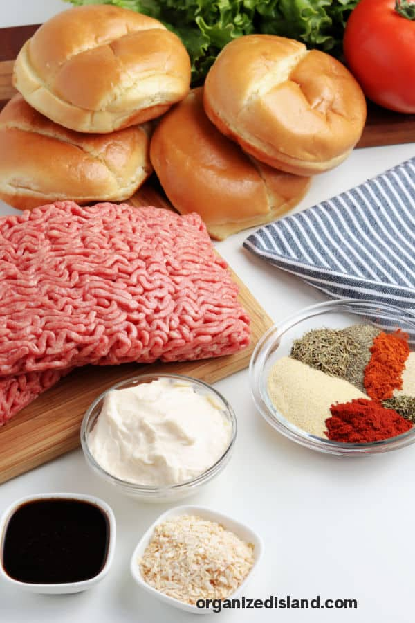 Grilled Burgers Ingredients