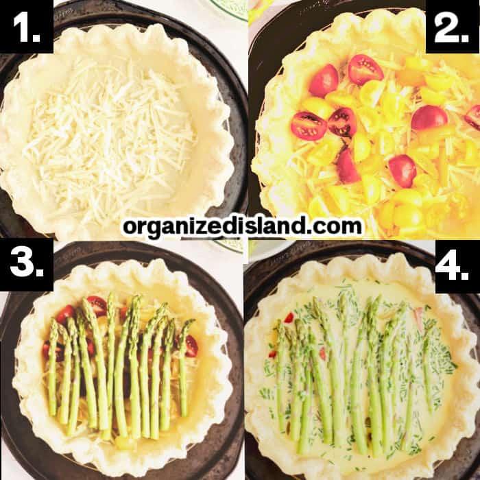 How to Make Asparagus Quiche