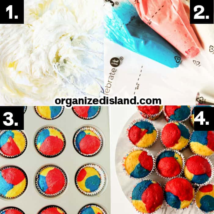 How to Make Fourth of July Cupcakes
