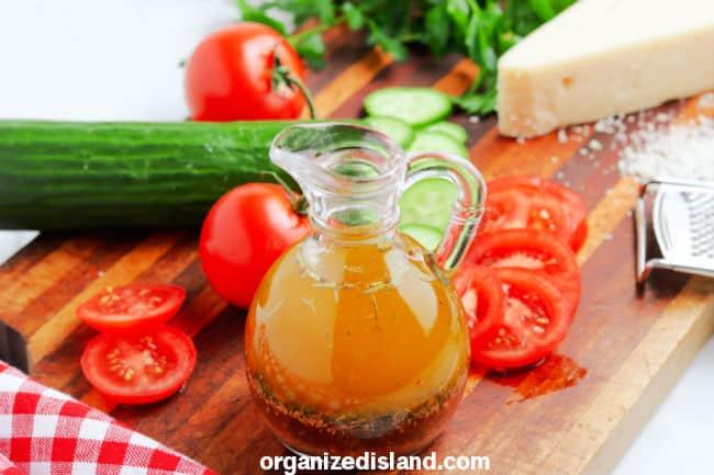 Italian dressing in jar