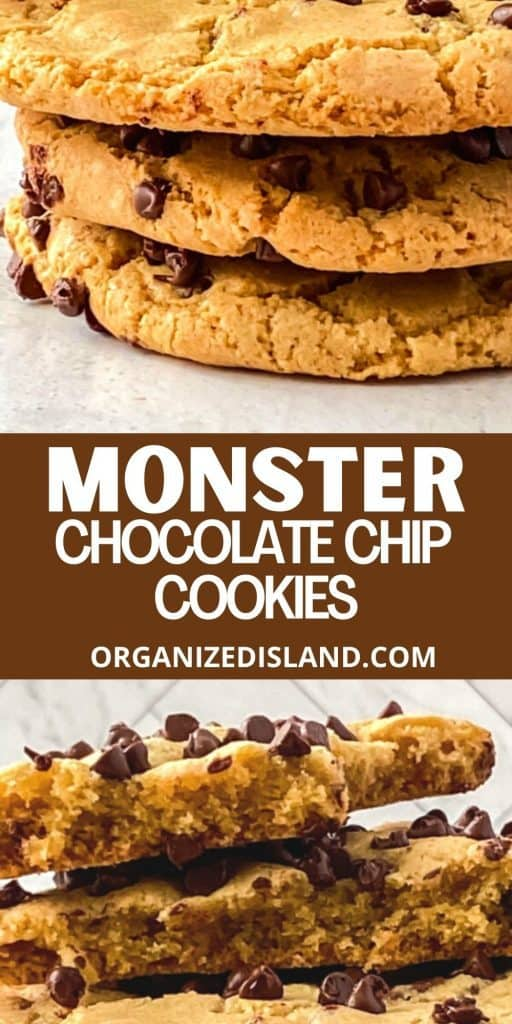 Monster Chocolate Chip Cookies Recipe