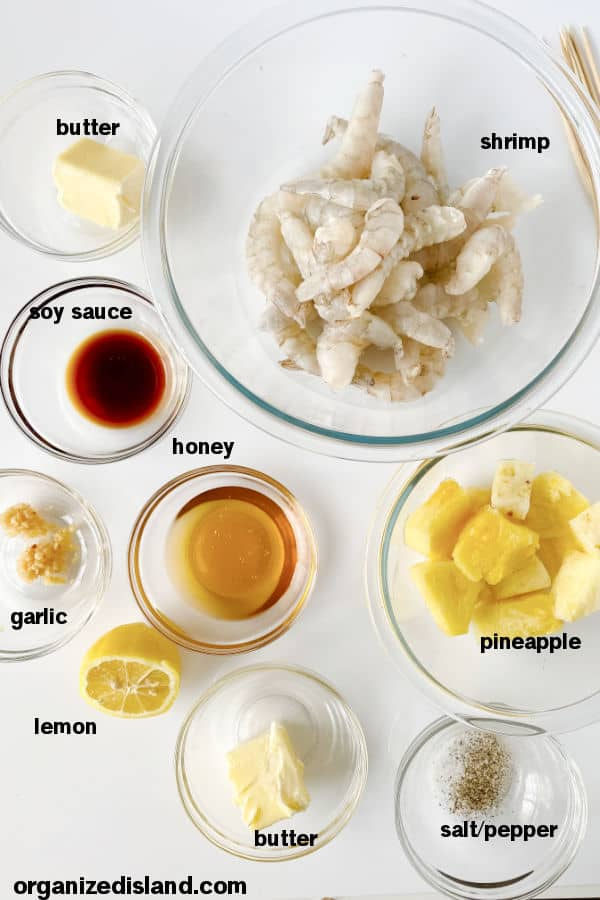 BBQ Shrimp Ingredients