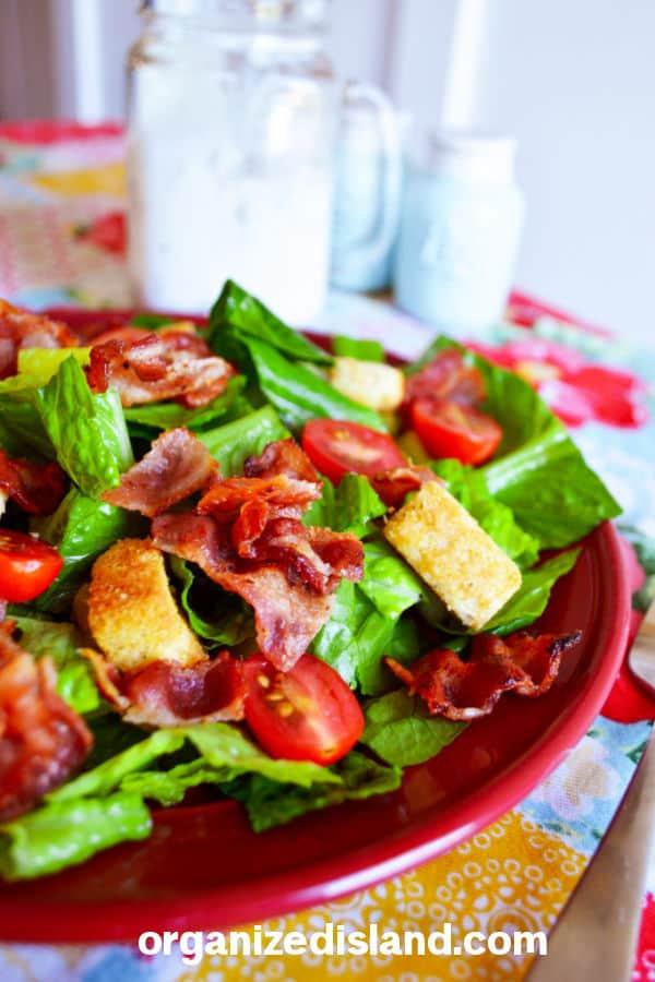 BLT Salad on plate