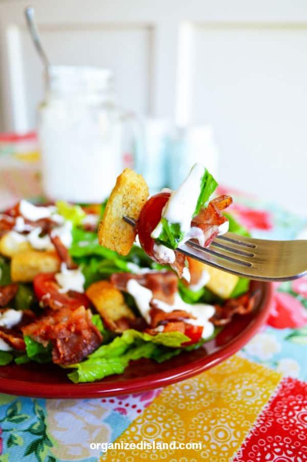 BLT Salad with dressing