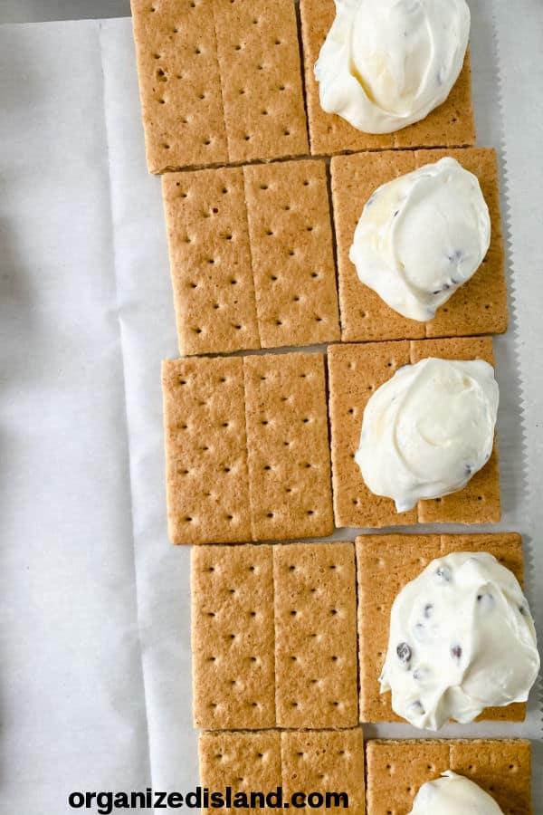 How to Make Graham Cracker Ice Cream Sandwiches