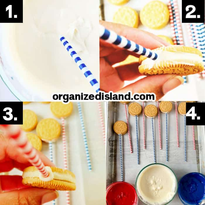 How to Make Red White and Blue Oreos