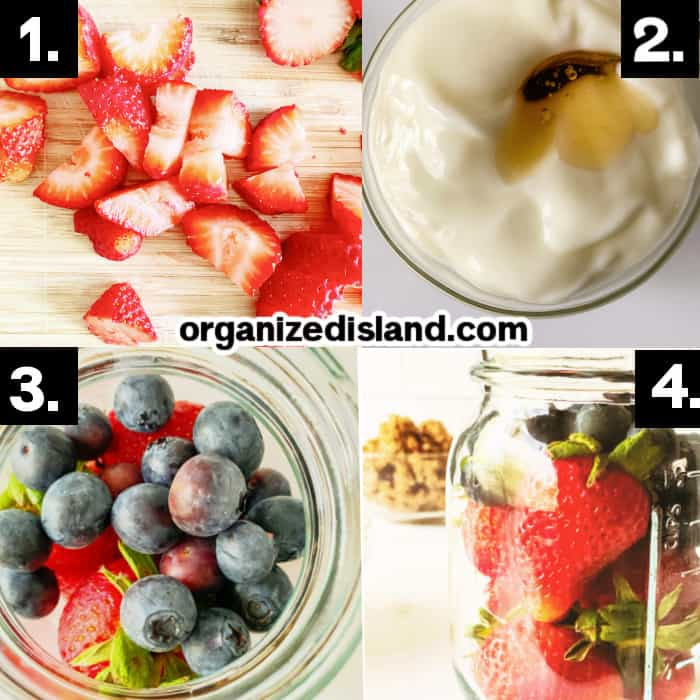 How to Make Red White and Blue Parfaits
