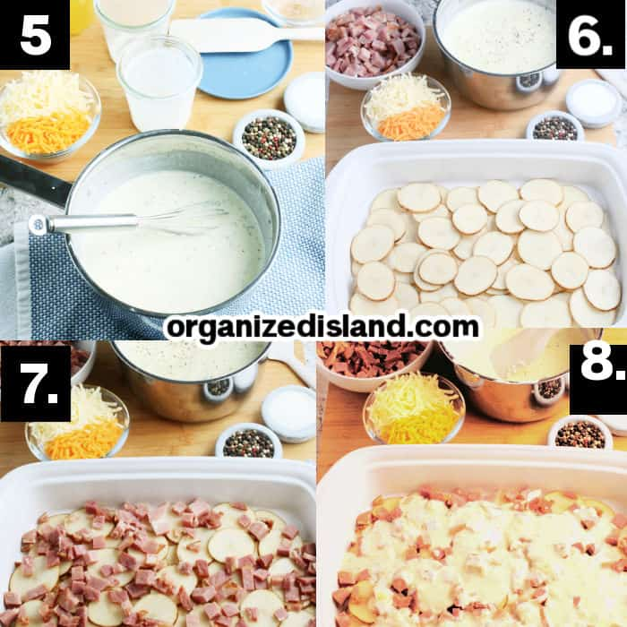 How to Make Scalloped Potatoes and Ham Casserole