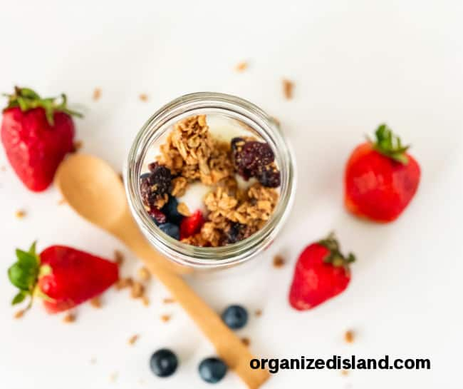 Red White and Blue Fruit Parfaits