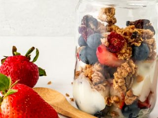 strawberry and blueberry parfaits