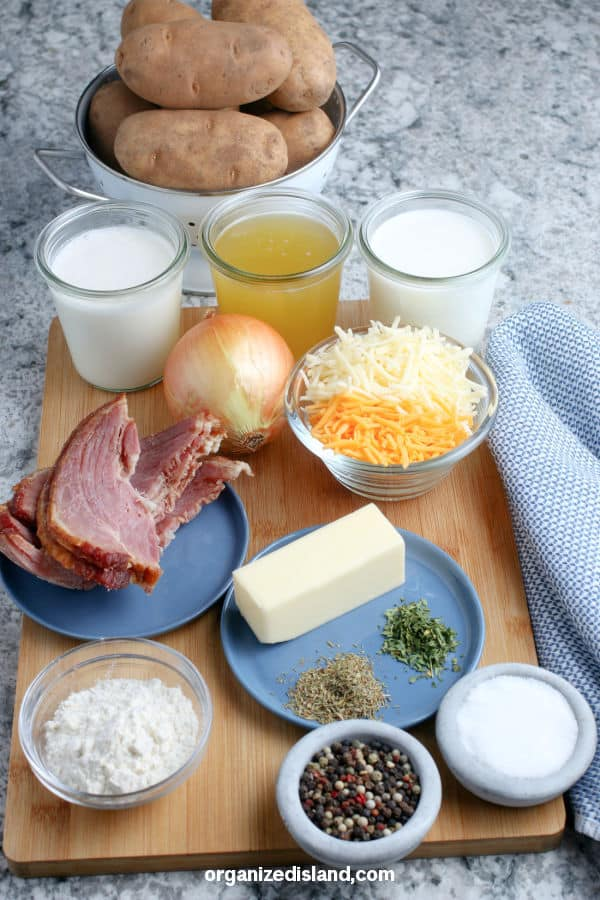 Scalloped Potatoes and Ham Casserole Ingredients