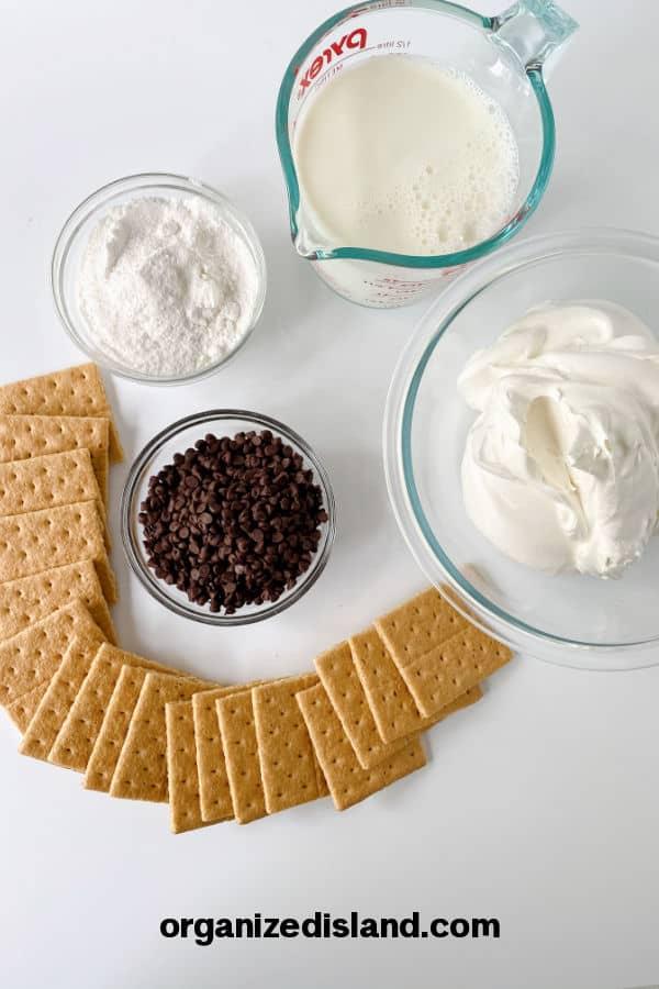 S'mores Ice Cream Ingredients