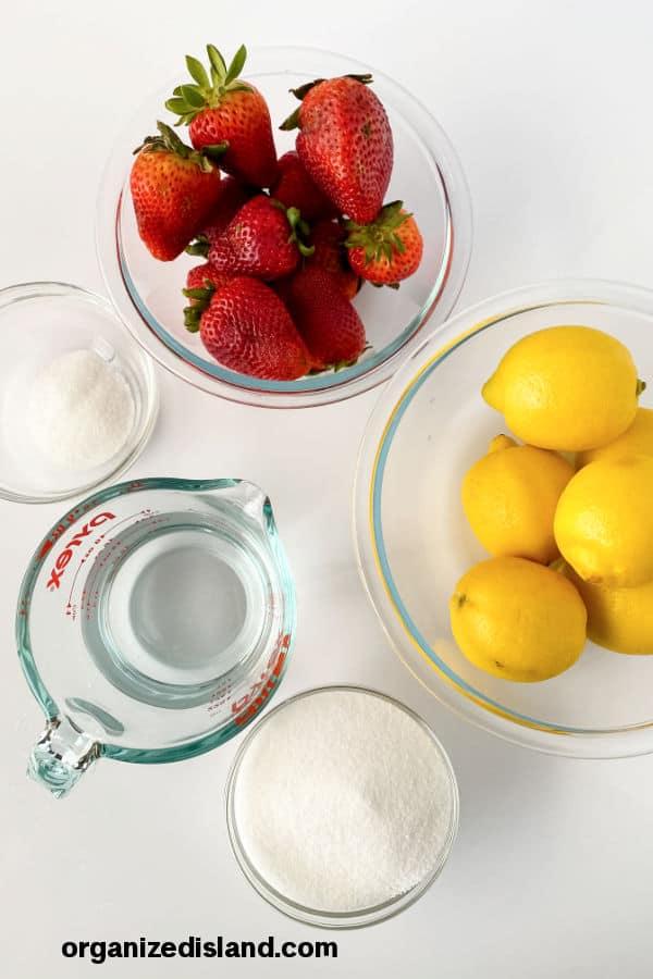 Strawberry Lemonade Popsicles Ingredients