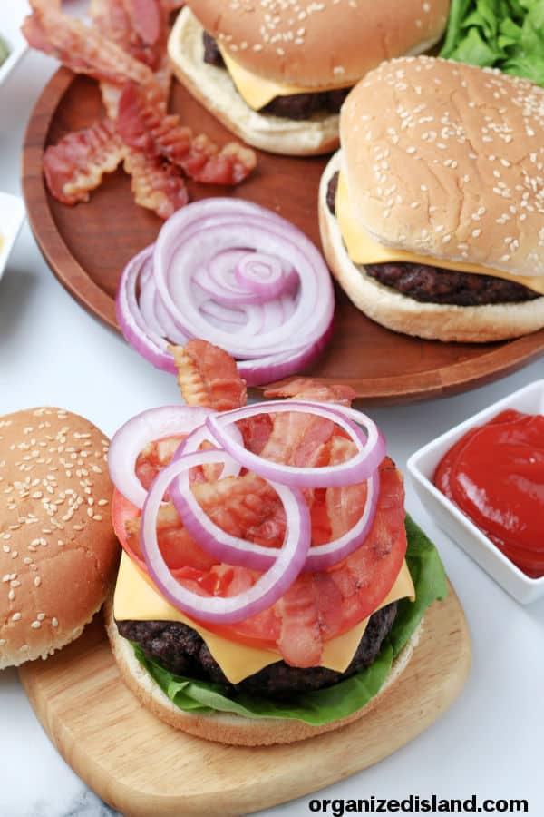 Air-Fryer-Hamburgers