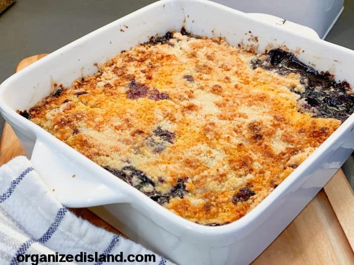 Blueberry Cobbler Blueberry Crisp