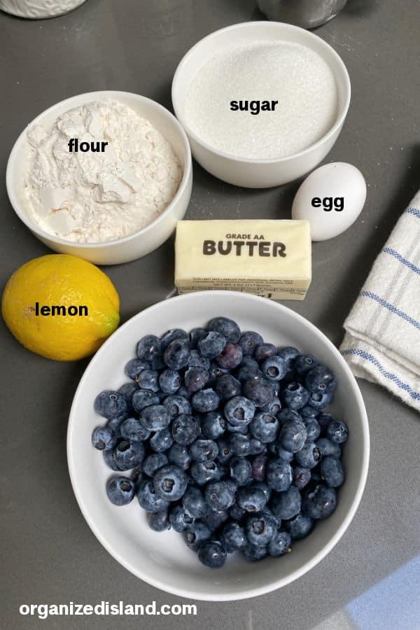 Blueberry Crisp 6 ingredients