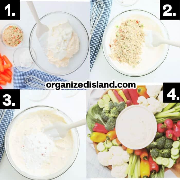 steps to Make Easy Vegetable Dip