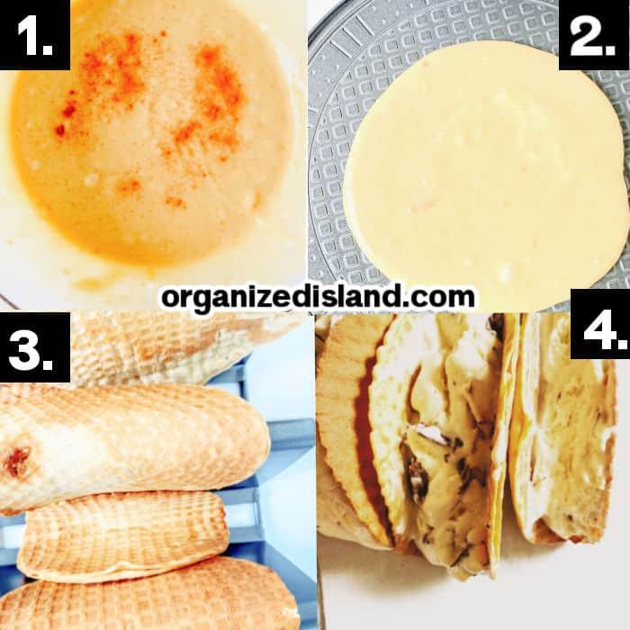 How to Make Waffle Taco Shells