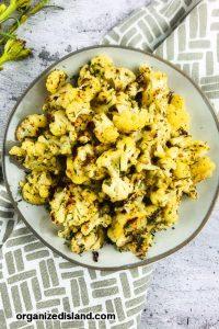 Roasted Cauliflower with Lemon