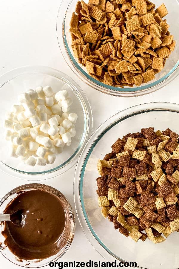S'morews Mix Ingredients