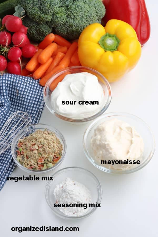 Vegetable Dip Ingredients