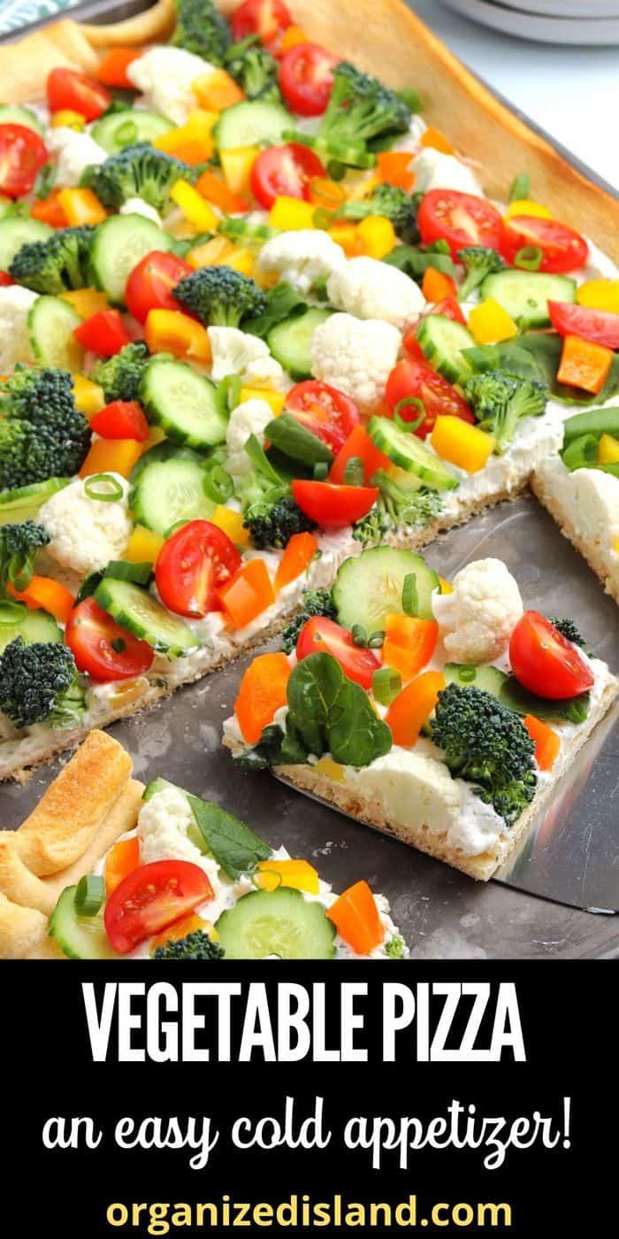 Vegetable Pizza Appetizer