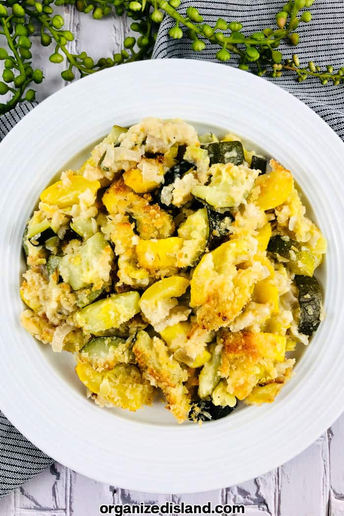 Baked Zucchini and Squash Recipe Feat