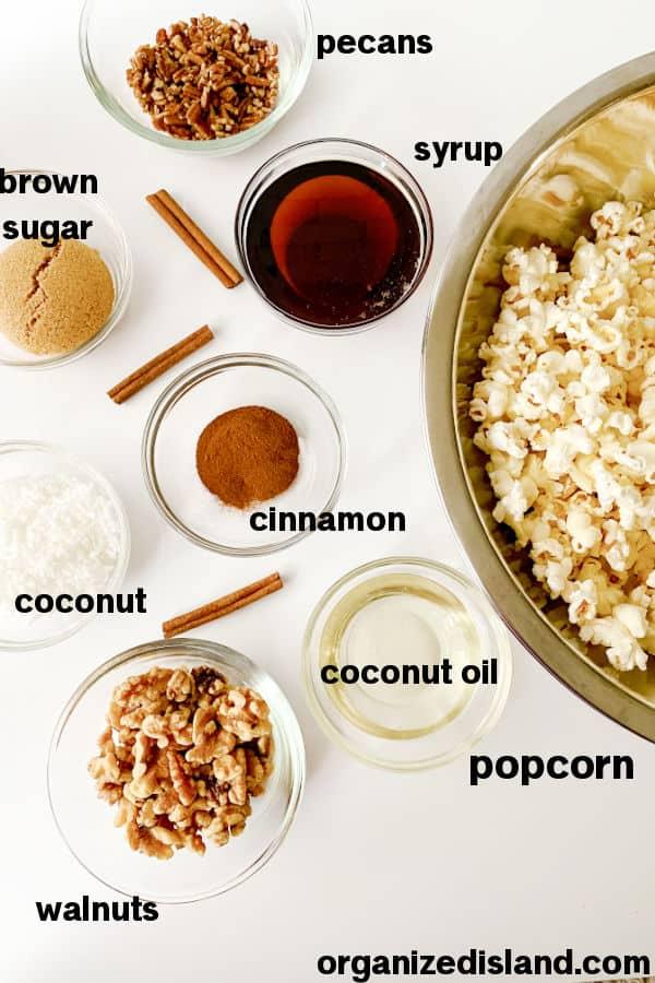 Cinnamon Popcorn Ingredients