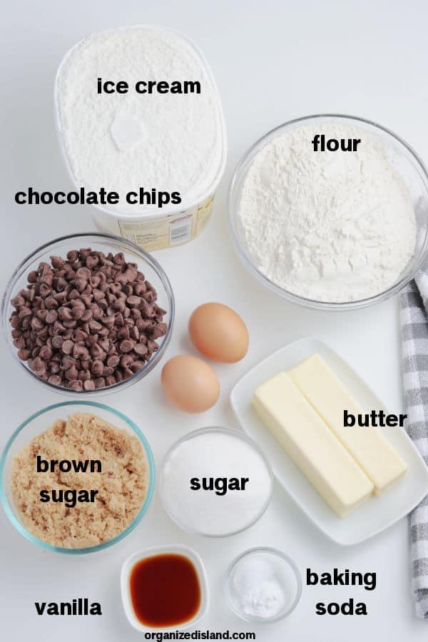 Cookie Ice Cream Sandwich Ingredients