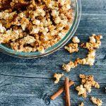 cinnamon popcorn in bowl