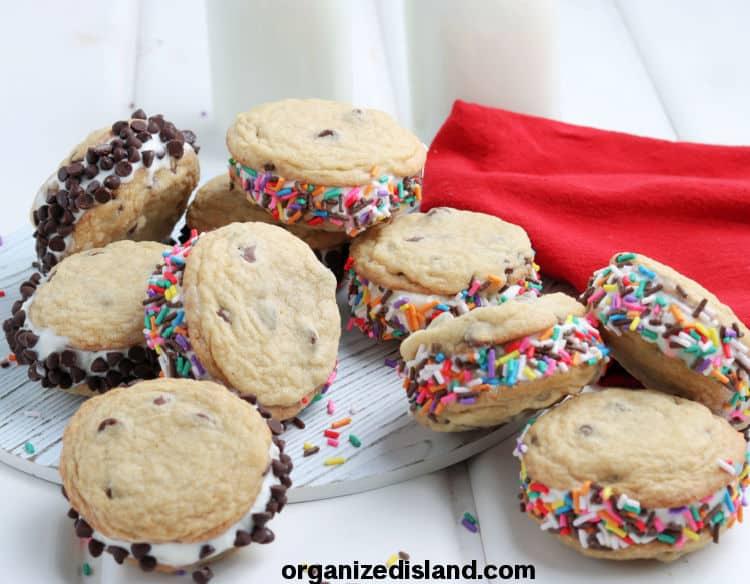Easy Cookie Ice Cream Sandwiches